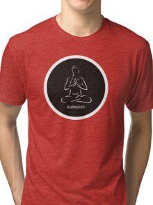 Yoga Namaste Calmness (White) Tri-blend T-Shirt