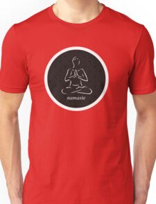 Yoga Namaste Calmness (White) Unisex T-Shirt