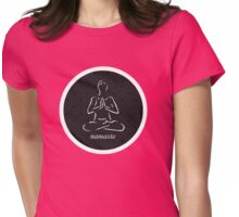 Yoga Namaste Calmness (White) Womens Fitted T-Shirt