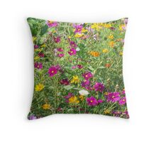 Wildflowers Of Gold And Purple Throw Pillow