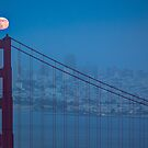 Full Moon over the Golden Gate Bridge July 2012 by Toby Harriman
