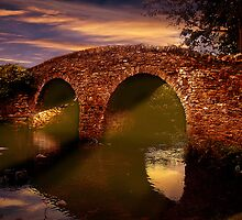 Sun Set Over Packhorse Bridge by Nigel Hatton, Derwent Digital Imaging