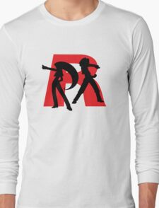Team Rocket Line art Long Sleeve T-Shirt