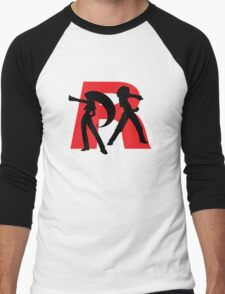 Team Rocket Line art Men's Baseball ¾ T-Shirt