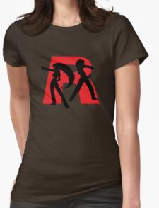 Team Rocket Line art Womens Fitted T-Shirt