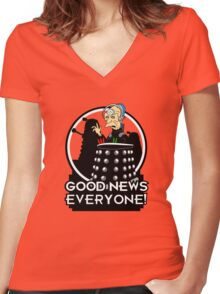 Good News Everyone! Women's Fitted V-Neck T-Shirt