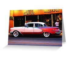 artists supplies and wallpaper  Greeting Card
