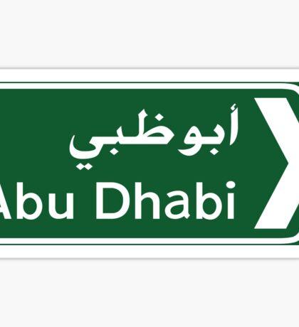 Abu Dhabi Road Sign, UAE Sticker