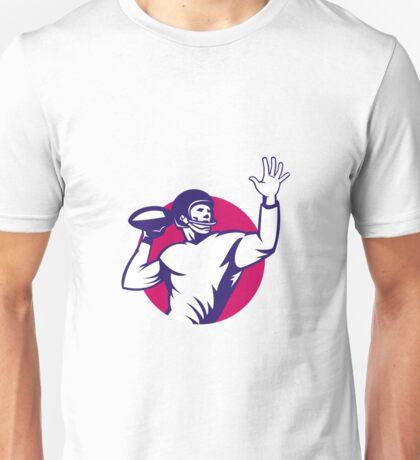 American Quarterback Football Player Pass Unisex T-Shirt
