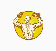 male human anatomy body builder flexing muscle Unisex T-Shirt