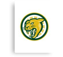 Mountain Lion Puma Big Cat Head Canvas Print