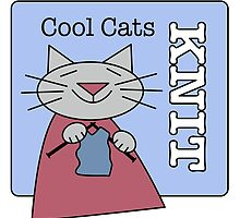 Cool Cats Knit Blue by Sue Cervenka