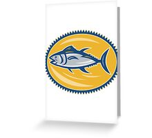 Blue Fin Tina Side Retro Greeting Card