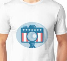 American DSLR Camera Stars and Stripes Flag Unisex T-Shirt