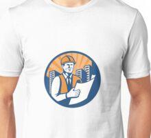 Construction Engineer Architect Foreman Retro Unisex T-Shirt
