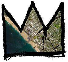 "Basquiat ""King of Santa Monica"" by O O"