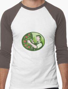 Horticulturist Farmer Pruning Fruit Men's Baseball ¾ T-Shirt