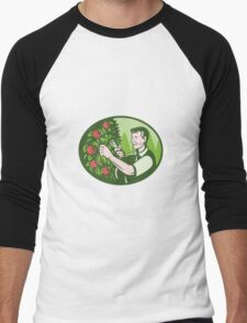 Horticulturist Farmer Pruning Fruit Men's Baseball ¾ T-Shirt