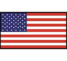 American Flag, Stars & Stripes, Pure & Simple, America, USA, on BLACK Photographic Print
