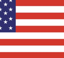 American Flag, Stars & Stripes, Pure & Simple, America, USA, on BLACK Sticker