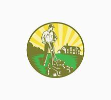 Gardener Mowing Lawn Mower Retro Unisex T-Shirt
