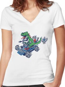 Clever Shell Women's Fitted V-Neck T-Shirt
