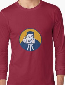 Photographer With Camera Retro Long Sleeve T-Shirt