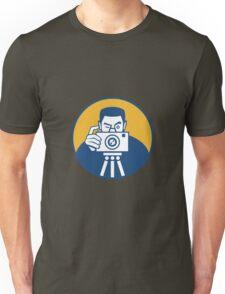 Photographer With Camera Retro Unisex T-Shirt