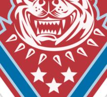 Pitbull Mongrel Dog Head Retro Sticker