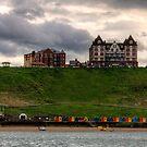 Whitby Beach Huts by Tom Gomez