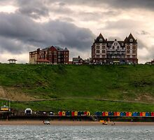 Whitby Beach Huts by Tom Gomez