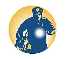 Security Guard Policeman Police Dog by patrimonio