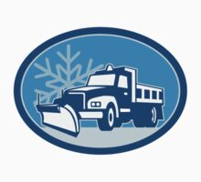 Snow Plow Truck Retro T-Shirt