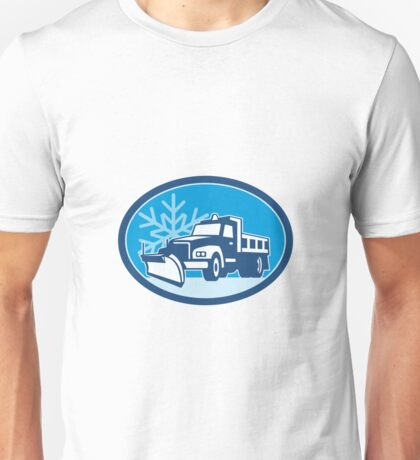 Snow Plow Truck Retro Unisex T-Shirt