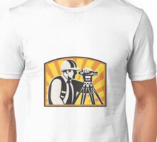 Surveyor Engineer Theodolite Total Station Retro Unisex T-Shirt