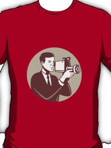 Photographer Shooting Video Camera Retro T-Shirt