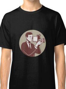 Photographer Shooting Video Camera Retro Classic T-Shirt