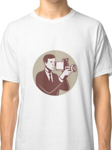 Photographer Shooting Video Camera Retro Classic T-Shirt
