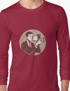 Photographer Shooting Video Camera Retro Long Sleeve T-Shirt