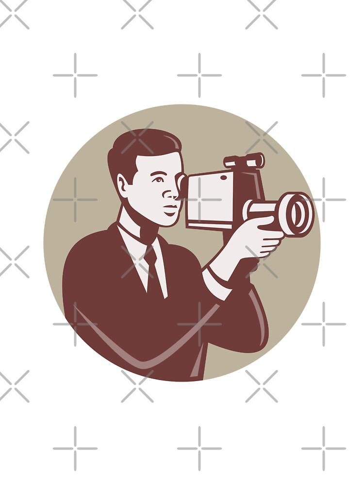 Photographer Shooting Video Camera Retro by patrimonio