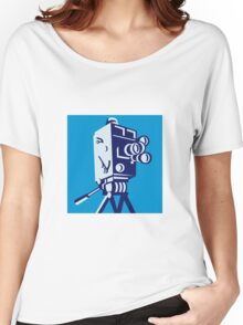 Vintage Film Movie Camera Retro Women's Relaxed Fit T-Shirt