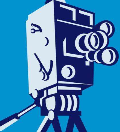 Vintage Film Movie Camera Retro Sticker