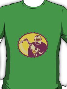 Welder Worker Welding Torch Retro T-Shirt