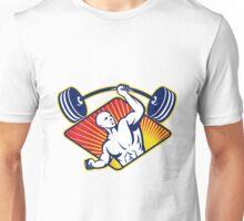 Weight lifter Body Builder Lifting Barbell Unisex T-Shirt