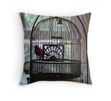Bird in a Guilded Cage Throw Pillow