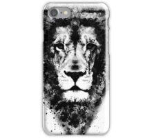 Cool Lion Head Design in Black Ink iPhone Case/Skin