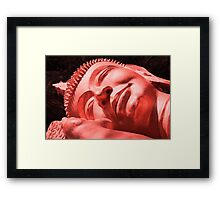 Sleeping Buddha in Red Framed Print