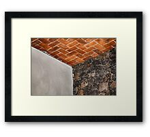 Textured Cube Framed Print
