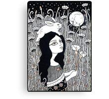 Celestial Rabbit Canvas Print