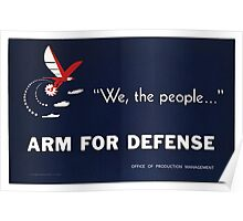 Arms for Defense Poster